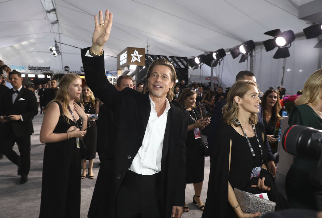 Brad Pitt arrives at the 26th annual Screen Actors Guild Awards at the Shrine Auditorium & ...