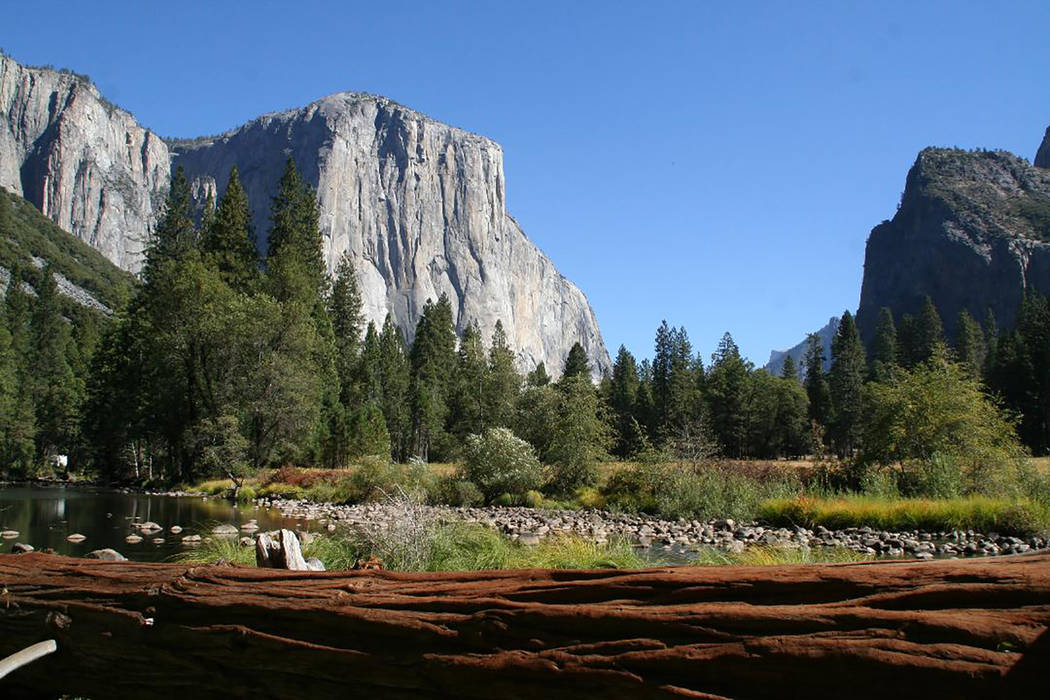 El Capitan is a 3,000 foot high granite monolith in Yosemite National Park that is extremely po ...
