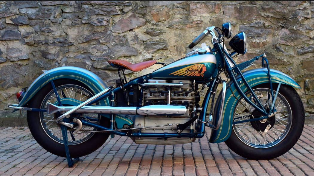 Mecum This 1939 Indian Four is up for auction during this weekend's Mecum event at South Point.