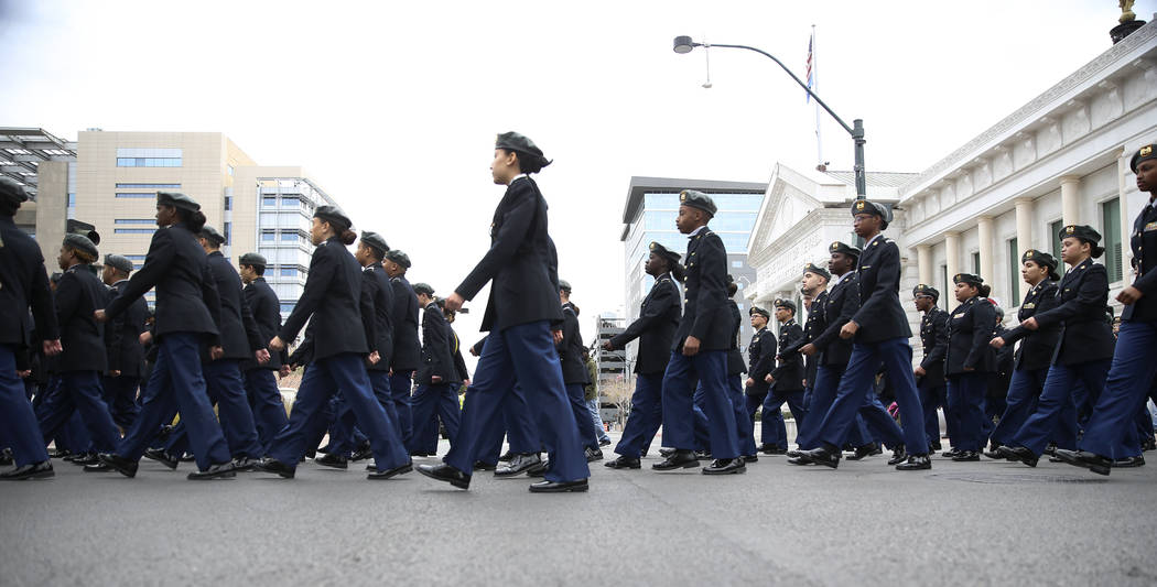 Cheyenne High School JROTC members participate during the 38th annual Dr. Martin Luther King Jr ...