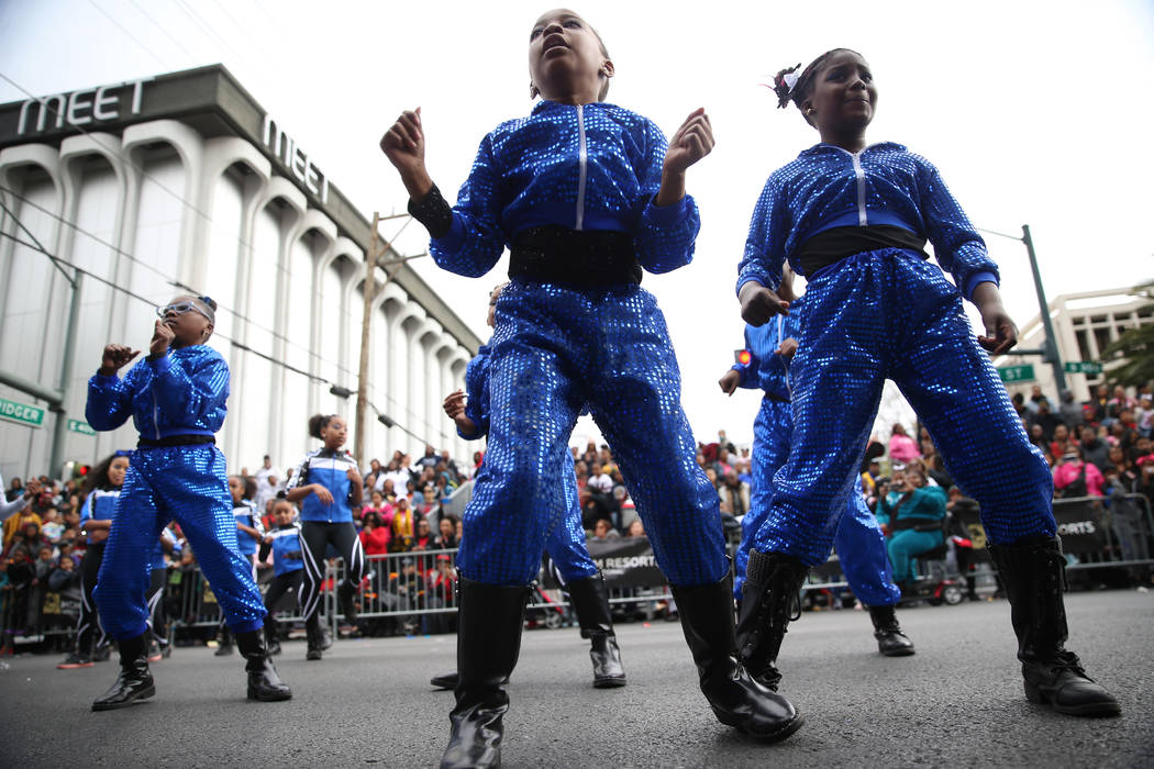 Matt Kelly Elementary School student dancers perform during the 38th annual Dr. Martin Luther K ...