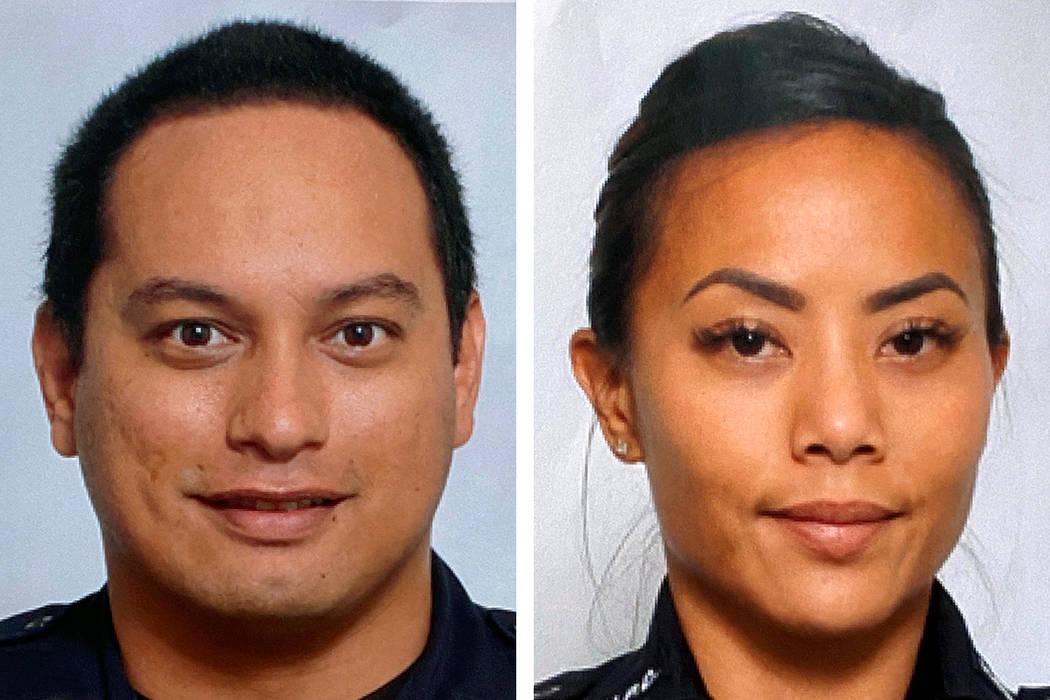 Honolulu Police Department Officers Kaulike Kalama, left, and Tiffany Enriquez were killed Sund ...