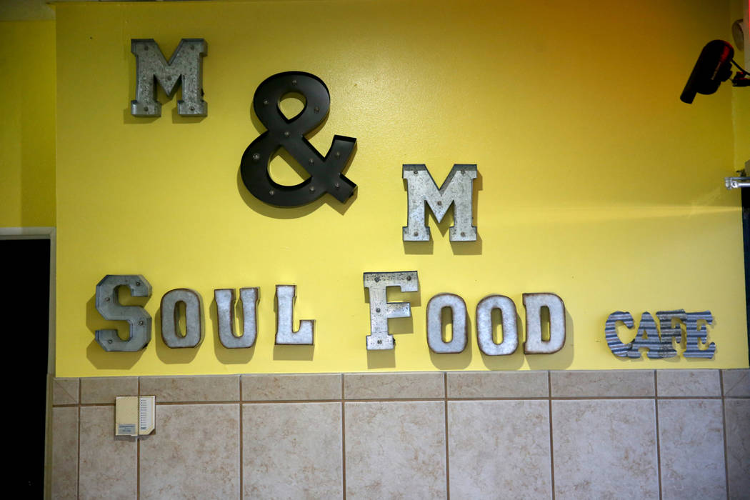 M&M Soul Food at 3923 W. Charleston Blvd. in Las Vegas Tuesday, Jan. 21, 2020. After a year ...