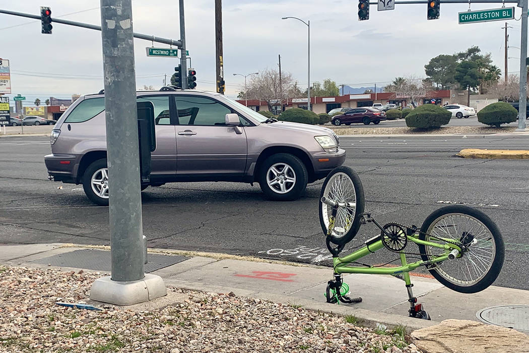 A child was struck by a vehicle Monday, Jan. 20, 2019, near the intersection of West Charleston ...