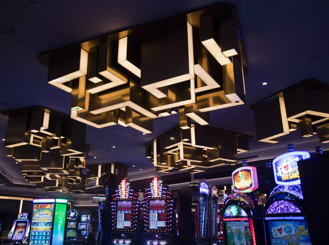 New overhead decor at the Strat in Las Vegas, Monday, Jan. 20, 2020. The Strat recently rebrand ...