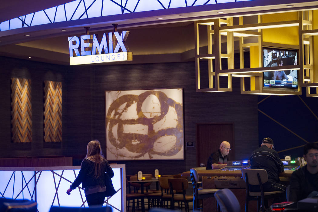 The new Remix Lounge at the Strat in Las Vegas, Monday, Jan. 20, 2020. The Strat recently rebra ...