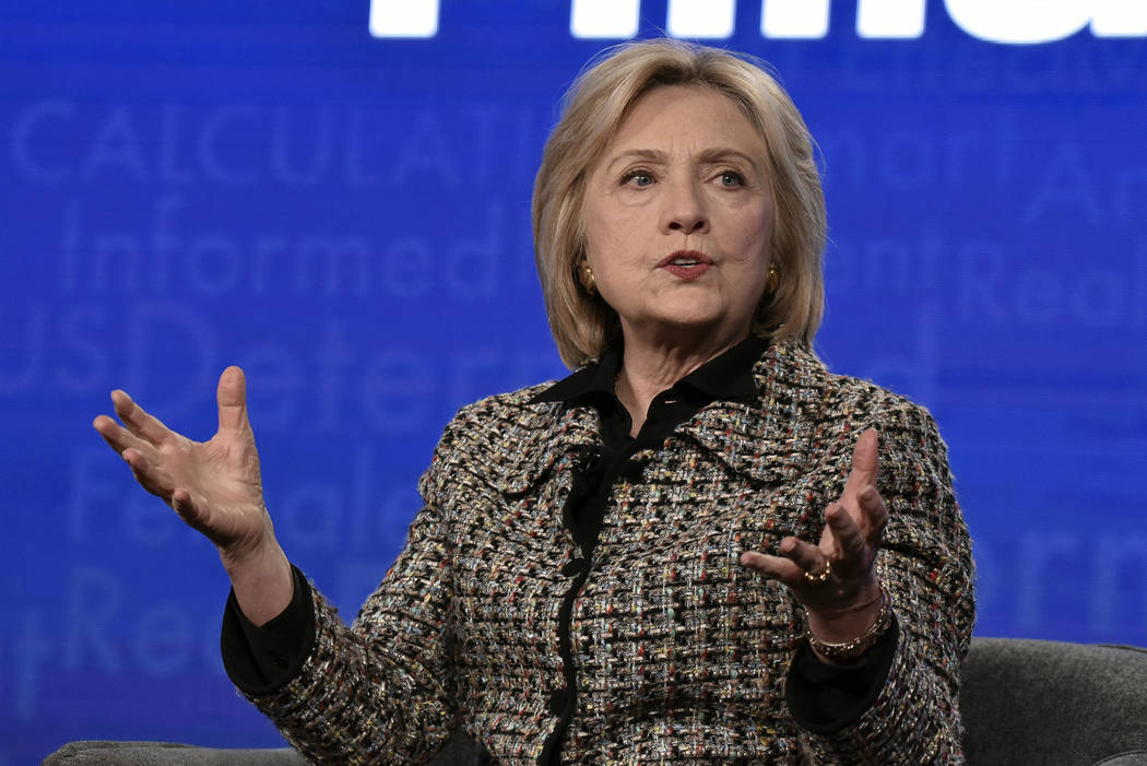"""Hillary Clinton participates in the Hulu """"Hillary"""" panel during the Winter 2020 Telev ..."""