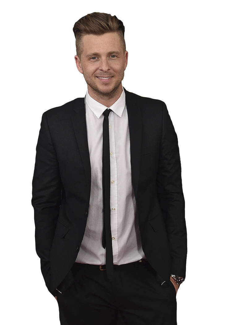 Ryan Tedder arrives at the 59th annual Grammy Awards at the Staples Center on Sunday, Feb. 12, ...