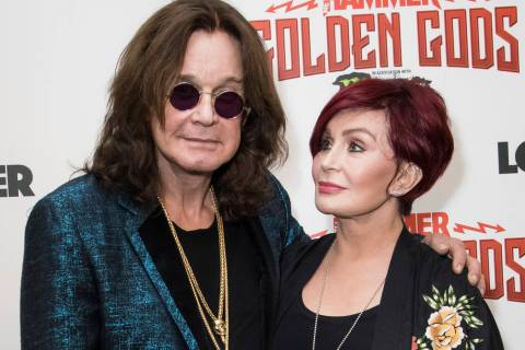 A June 11, 2018, file photo shows musician Ozzy Osbourne, left, and his wife Sharon Osbourne a ...