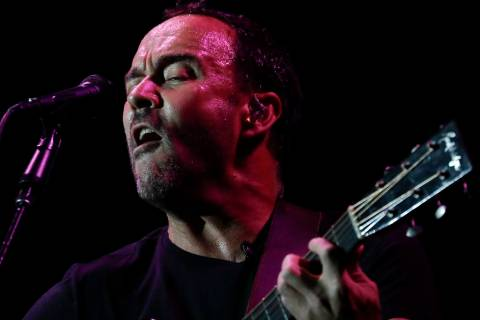 Dave Matthews Band's lead singer Dave Matthews performs at the Rock in Rio music festival in Ri ...