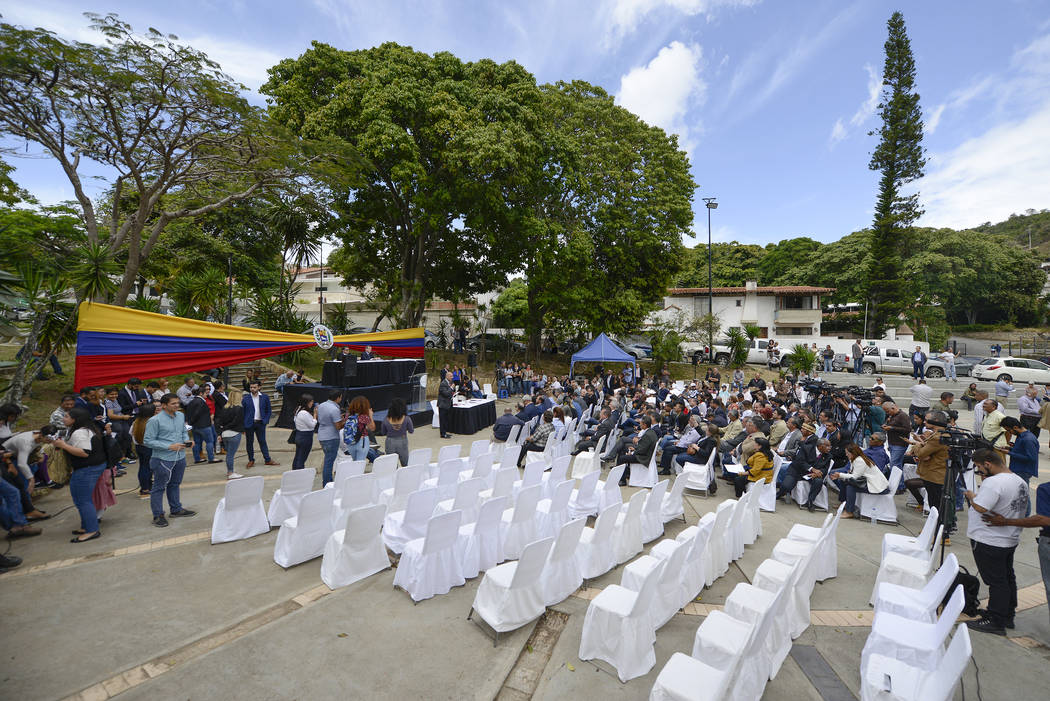 Opposition lawmakers hold a legislative session without the presence of government-allied lawma ...