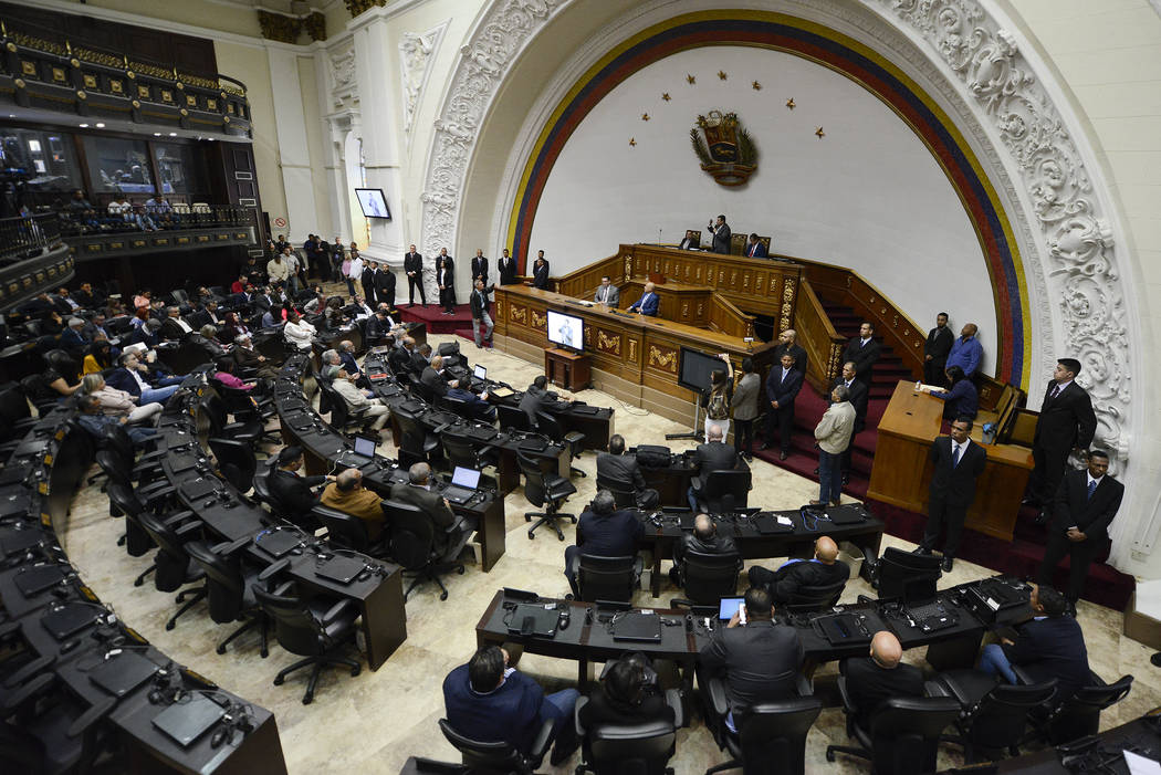 Lawmaker Luis Parra, who broke with opposition leader Juan Guaido and claims the presidency of ...