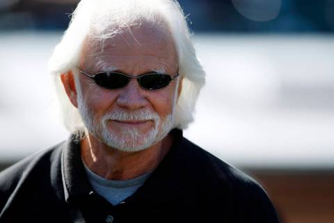 In this Oct. 25, 2009, file photo, former Oakland Raiders quarteback Ken Stabler watches during ...