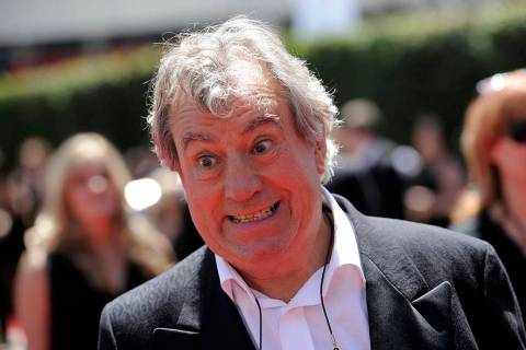 In a Saturday, Aug. 21, 2010, file photo, Terry Jones arrives at the Creative Arts Emmy Awards ...