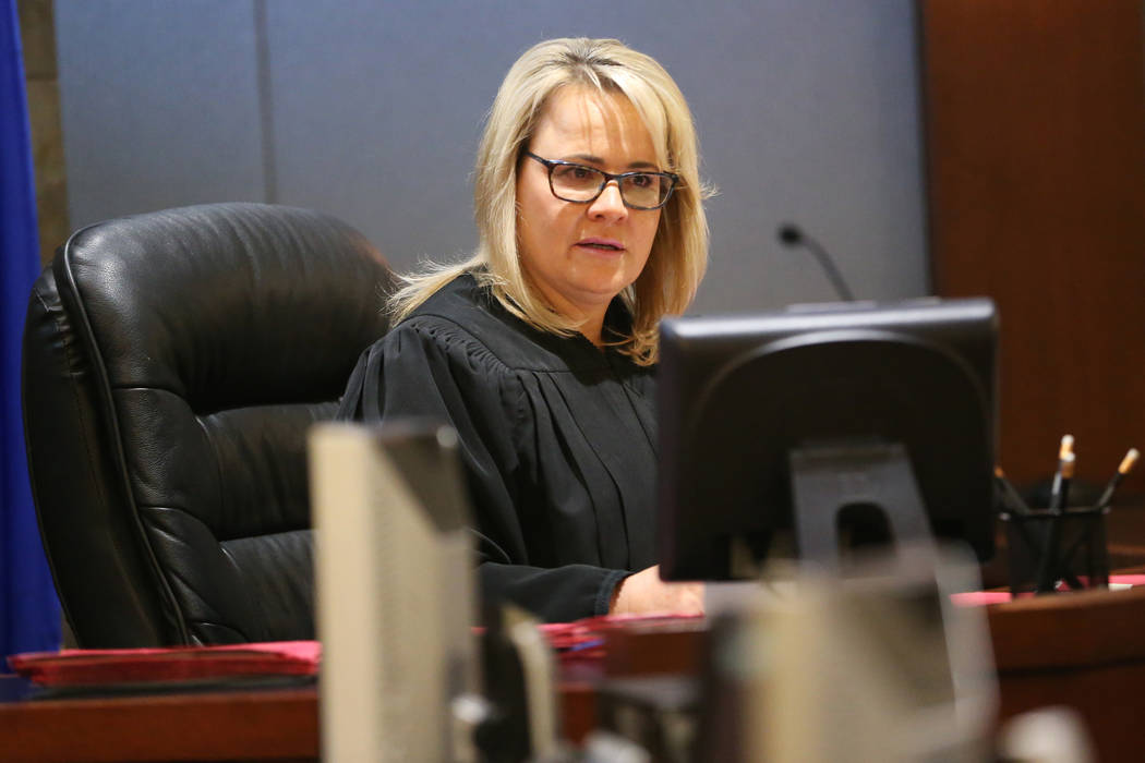 Judge Amy Chelini during the court hearing for 93-year-old Robert Thomas, charged with attempte ...