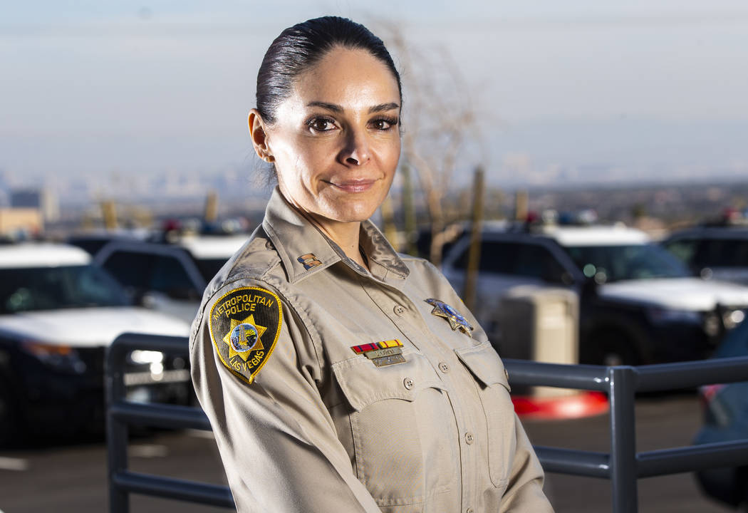 Capt. Sasha Larkin poses for a portrait at the Metropolitan Police Department's new Summerlin A ...