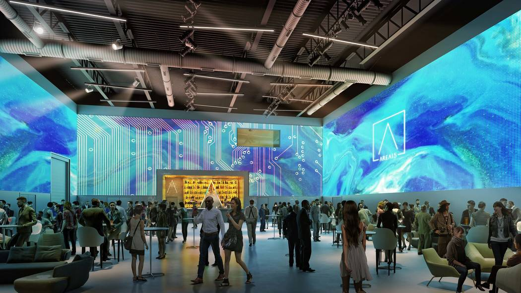 Area15's 360-degree projection-mapped event space. (Design + Distill)