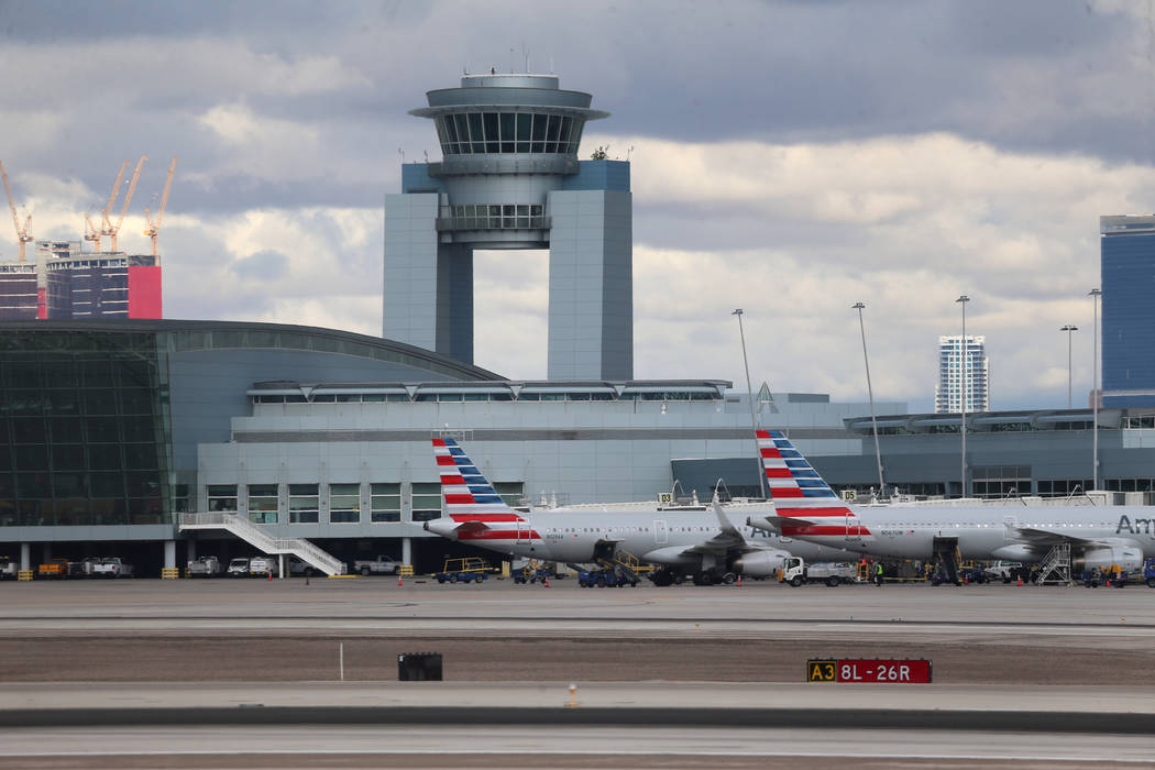 McCarran International Airport in Las Vegas, on Thursday, Nov. 21, 2019. (Erik Verduzco / Las V ...
