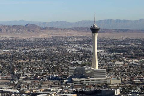 Sunny skies and light winds will prevail in Las Vegas on Thursday, Jan. 23, 2020, and for at le ...