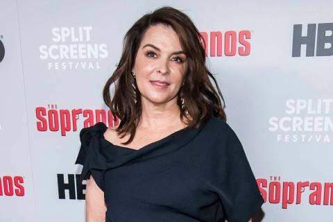 """In a Jan. 9, 2019, file photo, Annabella Sciorra attends HBO's """"The Sopranos"""" 20th anniversary ..."""