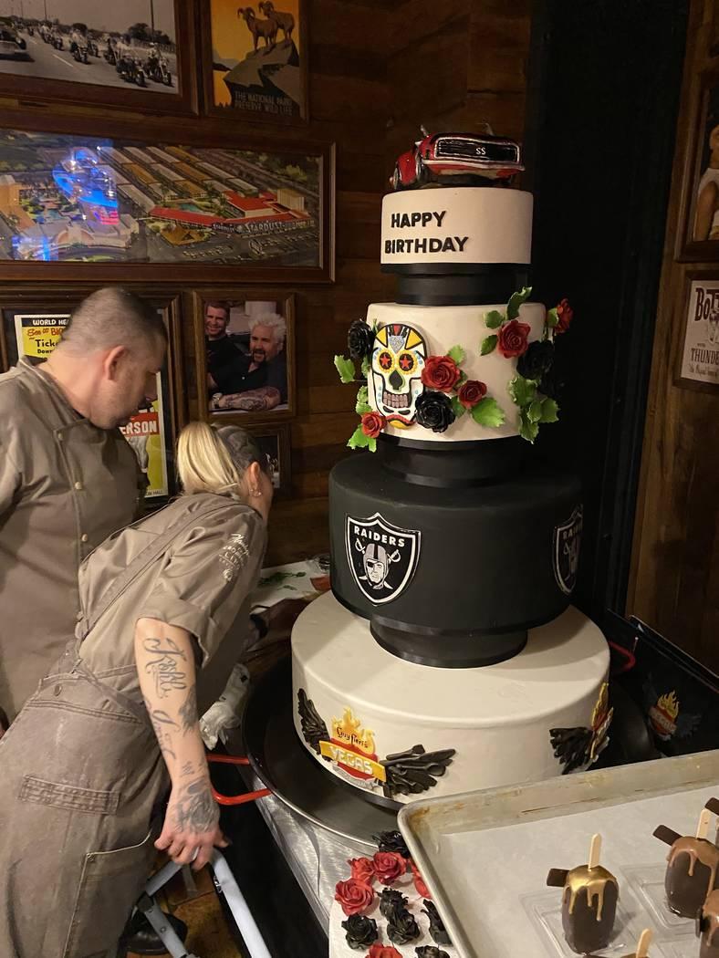 Astounding Guy Fieri Celebrates Birthday On Las Vegas Strip Las Vegas Birthday Cards Printable Opercafe Filternl