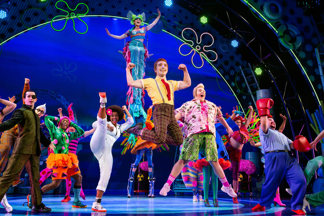 """The SpongeBob Musical"" opens an eight-show run Tuesday at The Smith Center for the P ..."