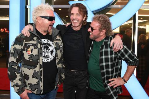 Restaurateur/tv personality Guy Fieri, musician/actor Rick Springfield and musician/entrepreneu ...