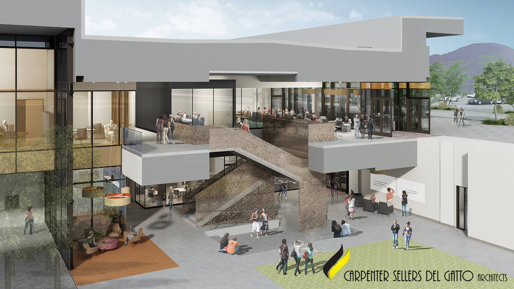 An artistic rendering shows what Nevada State College's Glenn and Ande Christenson School of ...