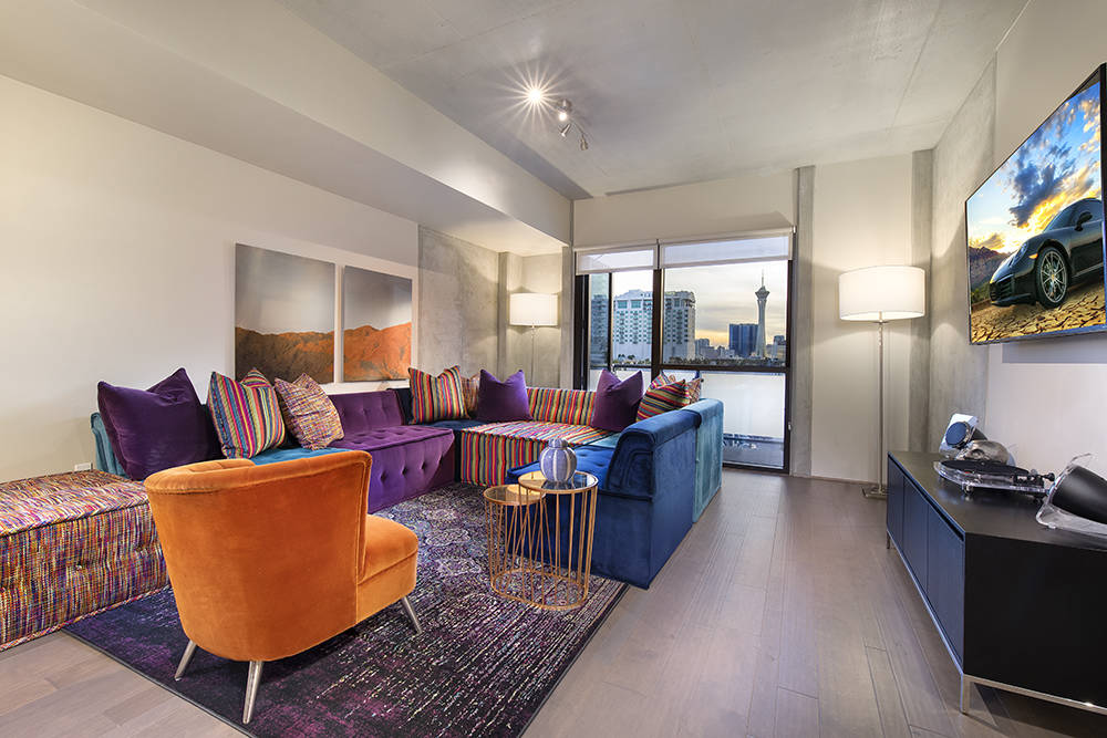 Residence No. 549 in Juhl, a downtown Las Vegas high-rise, is offered at $449,900, and for a li ...