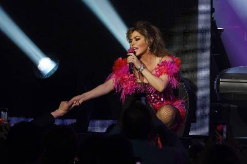 "Shania Twain performs her ""Let's Go"" residency at Zappos Theater on Friday, Dec. 6, 2019. (Deni ..."