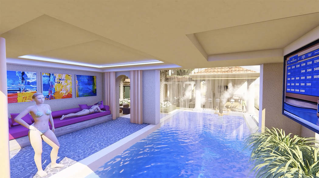 The mansion will have a two-level pool. (Luxurious Real Estate)