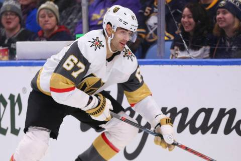 Vegas Golden Knights forward Max Pacioretty (67) skates during the second period of an NHL hock ...