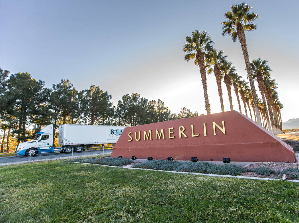 The National Association of Home Builders named Summerlin as the Master Planned Community of th ...