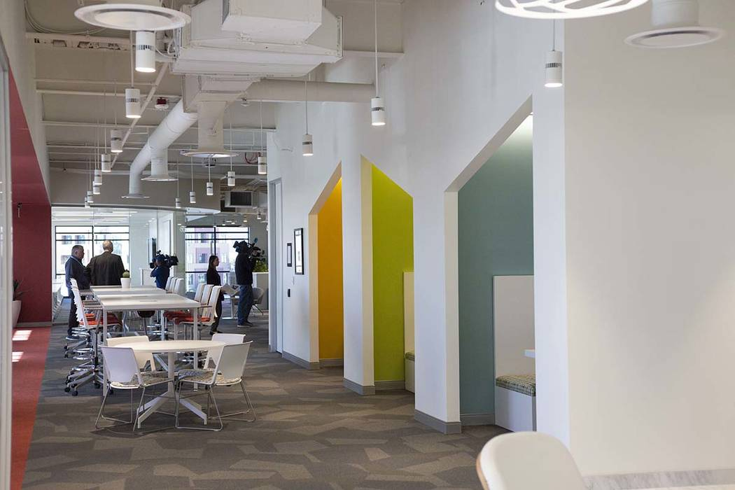 A co-working floor is seen in the new Harry Reid Research and Technology Park in Las Vegas on T ...