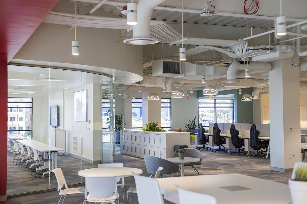 A co-working floor is seen in the Harry Reid Research and Technology Park in Las Vegas on Thurs ...