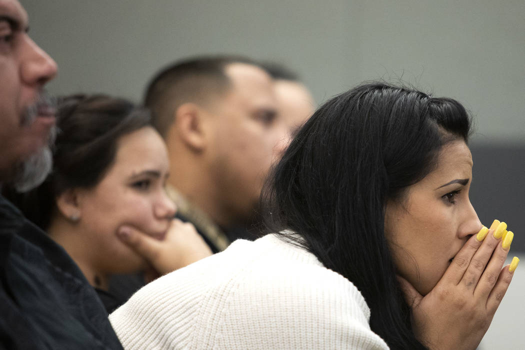 Elaine Vargas, niece of Kelly Deanne Kazoon, listens to the closing arguments in the trial of C ...