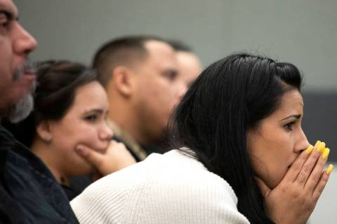 Elaine Vargas, niece of Kelly Deanne Kazoon, listens to closing arguments in the trial of Charl ...