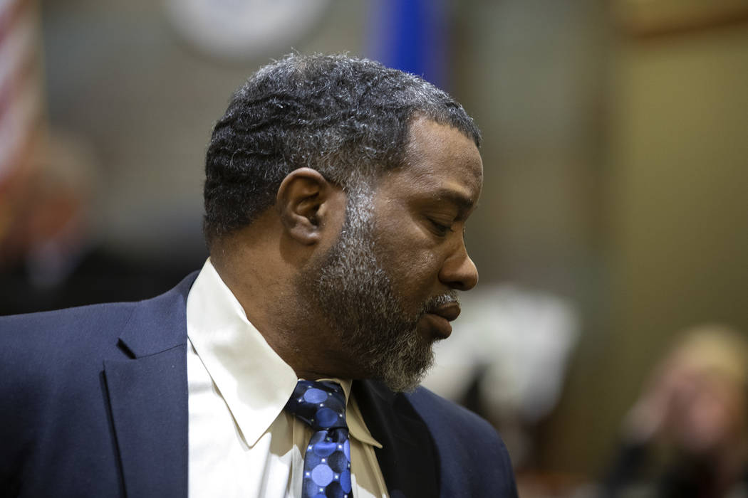 Charles Talley Jr. appears in court during his trial at the Regional Justice Center on Thursday ...