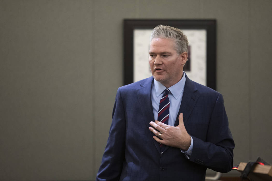 Charles Talley Jr.'s attorney Michael Hyte speaks during Talley Jr.'s trial at the Regional Jus ...