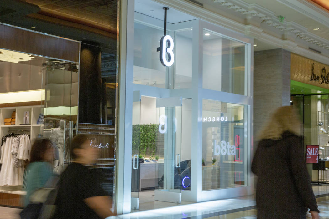 The recently opened b8ta storefront is seen at Forum Shops at Caesars Palace in Las Vegas on We ...