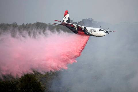 Rural Fire Service large air tanker 134, operated by Coulson Aviation in the U.S. state of Oreg ...