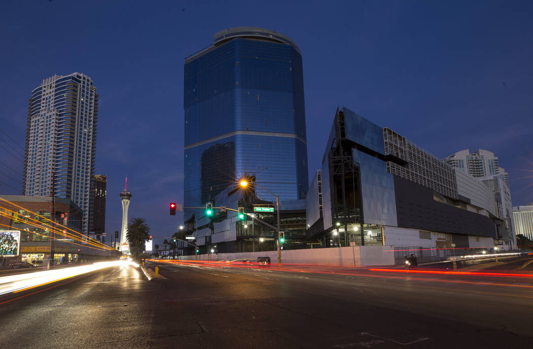 The unfinished Fontainebleau is seen on the Las Vegas Strip on Wednesday, Dec. 13, 2017. (Richa ...