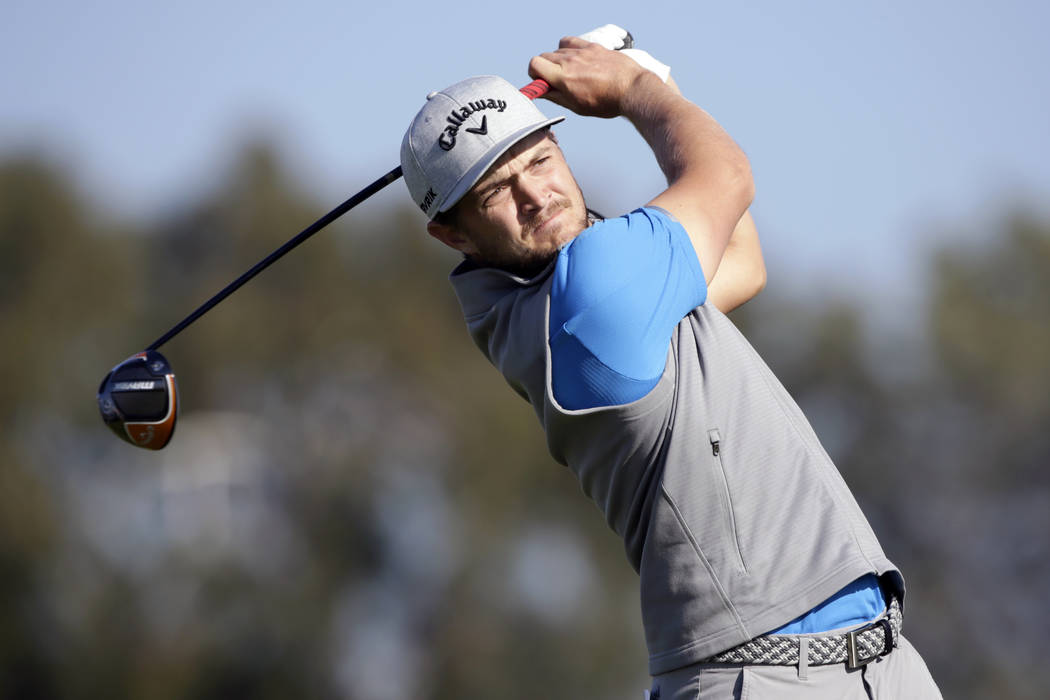 Sebastian Cappelen of Denmark plays his shot from the second tee on the Torrey Pines South Cour ...