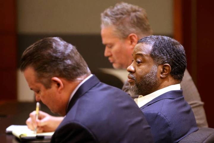 Charles Talley Jr. reacts to a guilty verdict in his murder and sexual assault trial at the Reg ...