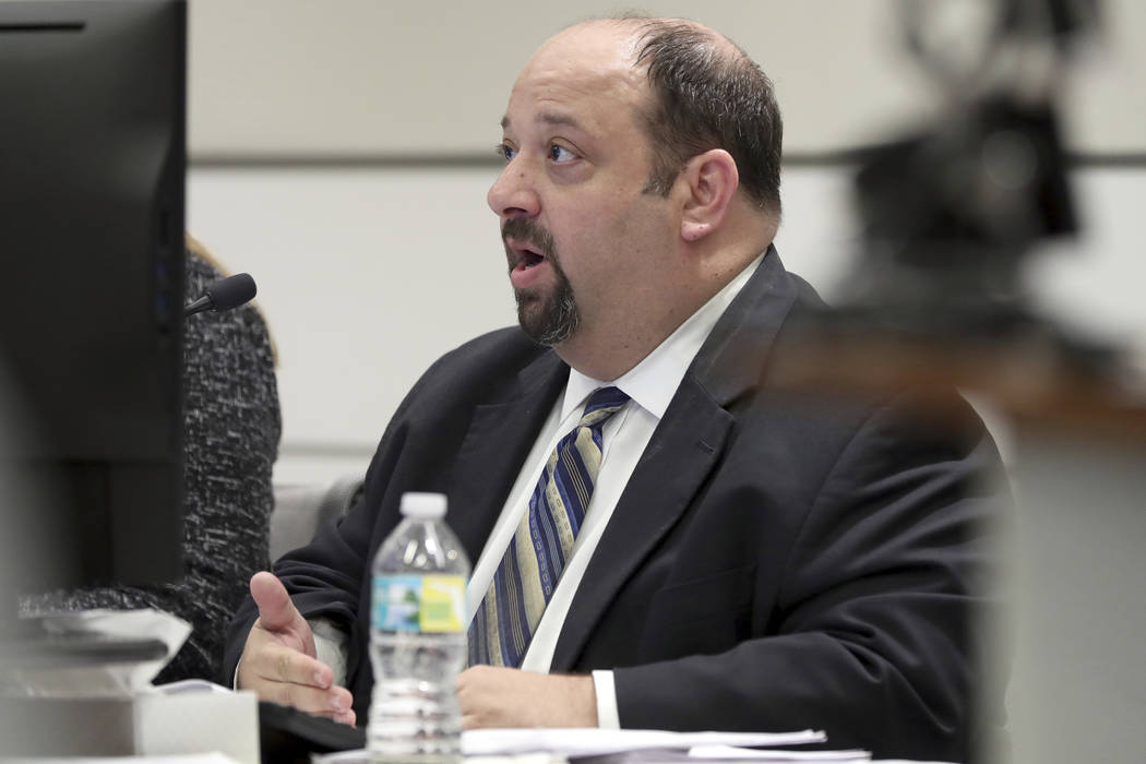 Prosecutor Eric Linder addresses the court during a first appearance hearing for NFL free agen ...