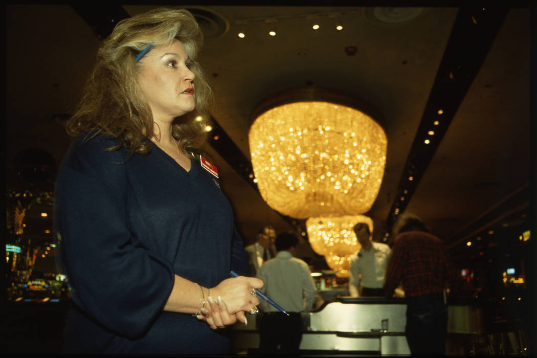 Dunes cashier Denise Watson works shift in a photo from Jan. 24, 1993. (Las Vegas Review-Journa ...