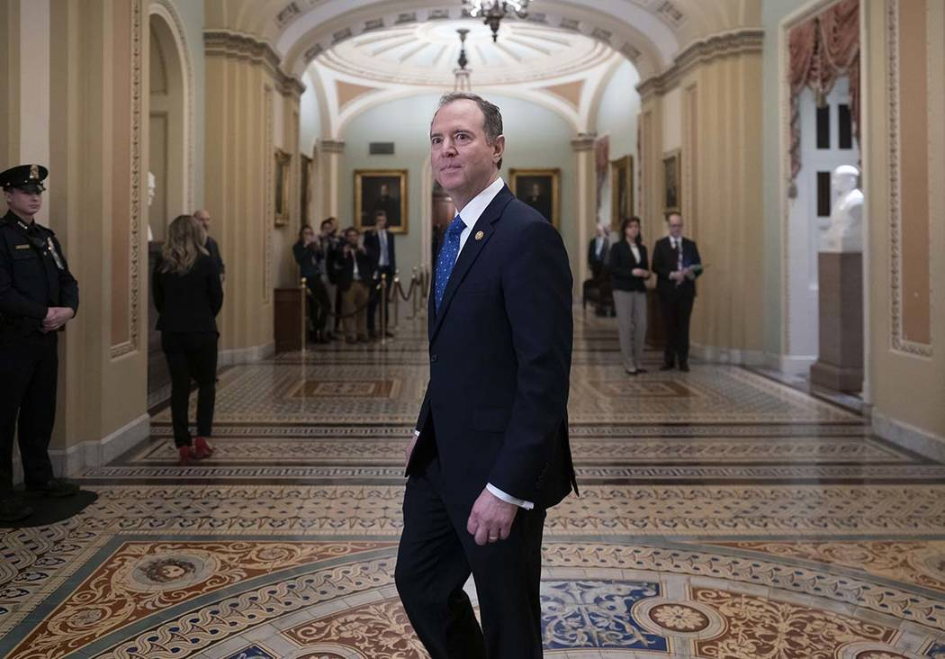 House Democratic impeachment manager, House Intelligence Committee Chairman Adam Schiff, D-Cali ...