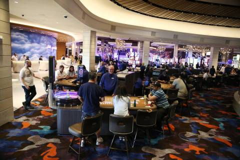 The renovated casino floor inside the Palms hotel-casino in Las Vegas, Thursday, May 17, 2018. ...