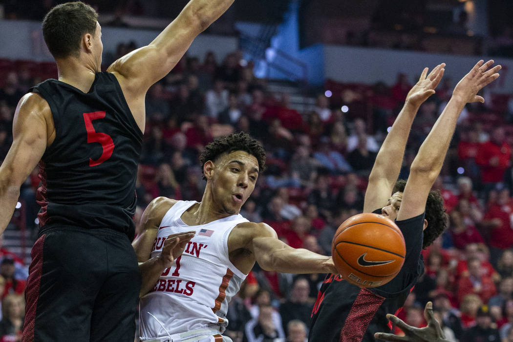 UNLV comes up just short in loss to No. 4 San Diego State