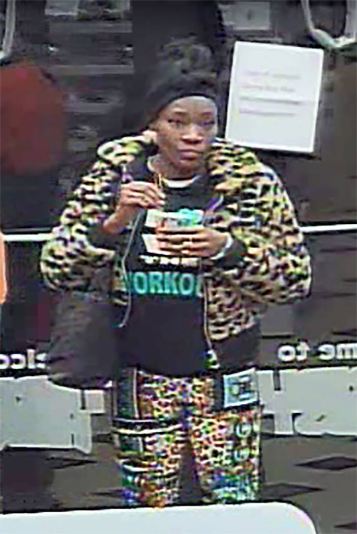 Female suspect in a gas station robbery at 330 N. Rancho Drive (LVMPD)
